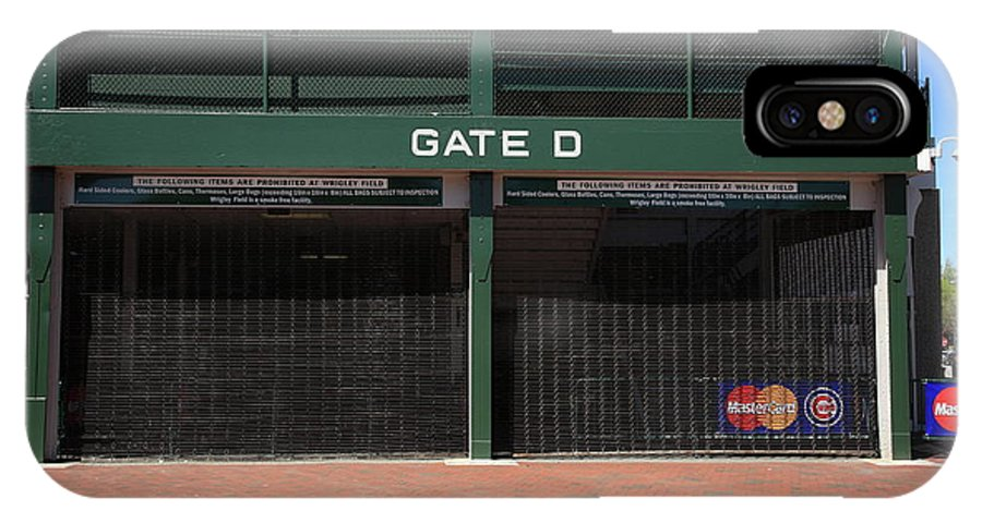 Addison IPhone X Case featuring the photograph Wrigley Field - Chicago Cubs by Frank Romeo