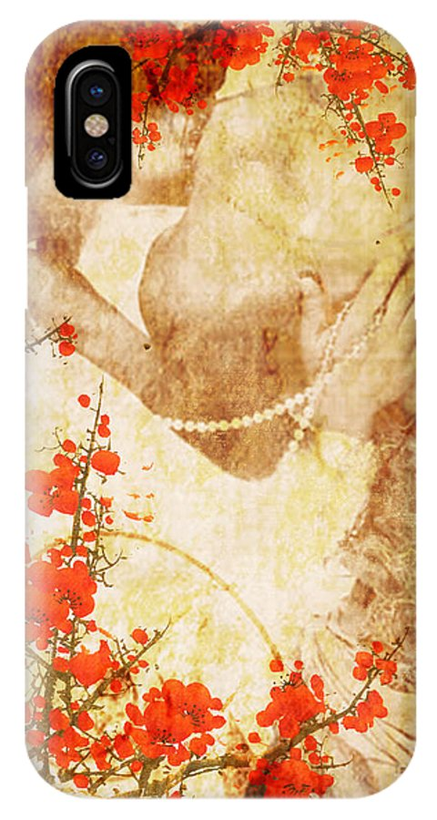 Nostalgic Seduction IPhone X Case featuring the photograph Winsome Woman by Chris Andruskiewicz