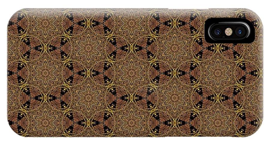Marjan Mencin IPhone X Case featuring the digital art Arabesque 031 by Marjan Mencin