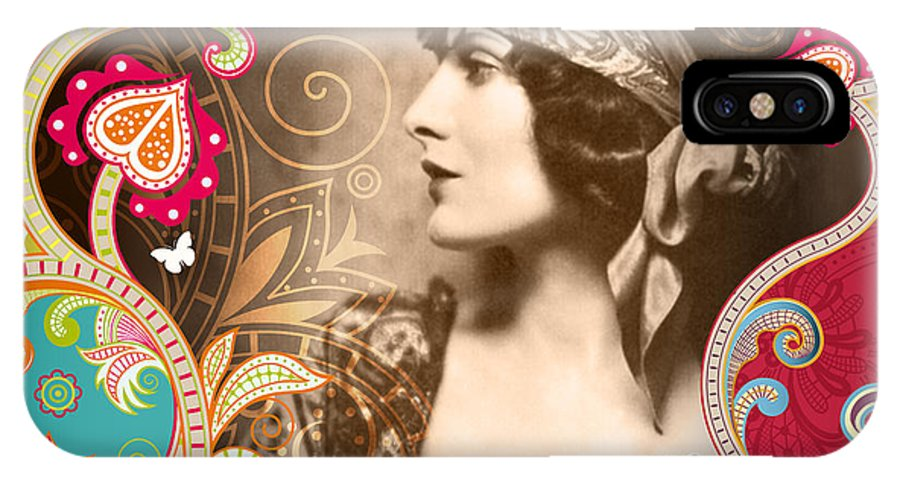 Nostalgic Seduction IPhone X Case featuring the photograph Goddess by Chris Andruskiewicz