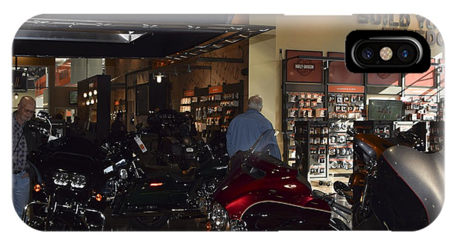 Harley-davidson Motor Cycles IPhone X / XS Case featuring the photograph Screw It, Just Ride by Marit Runyon