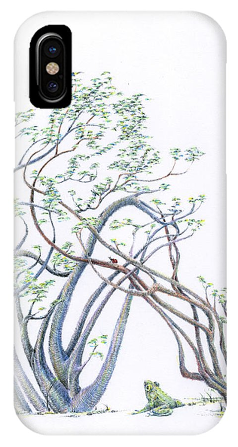 Mark Johnson Toronto Artist IPhone X Case featuring the drawing The Wistful Prince Re-imagined by Mark Johnson