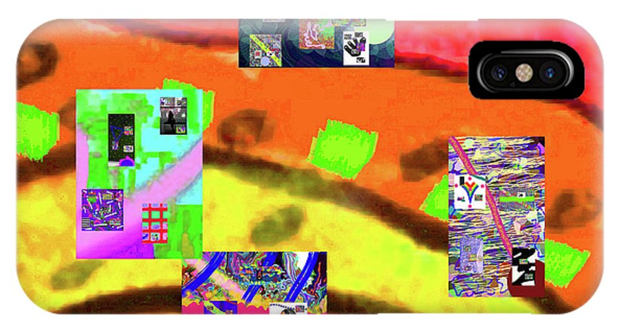 Walter Paul Bebirian IPhone X Case featuring the digital art 9-11-2015abcdefghijklmnopqrtuvwxyz by Walter Paul Bebirian