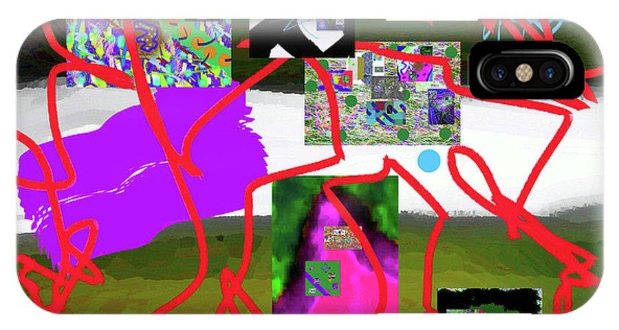 Walter Paul Bebirian IPhone X Case featuring the digital art 9-18-2015babcd by Walter Paul Bebirian