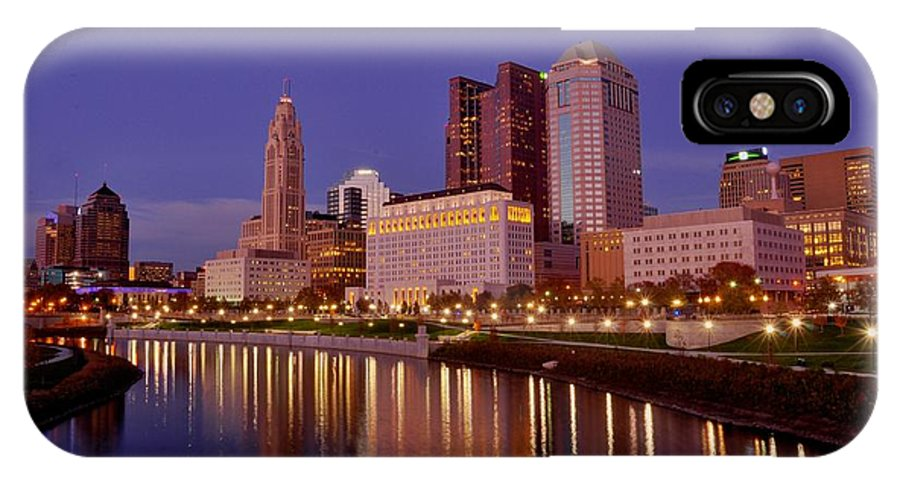 Columbus IPhone X Case featuring the photograph Columbus, Ohio by David Kelso