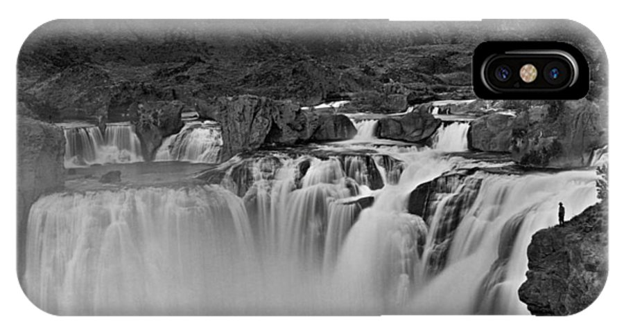 1874 IPhone X Case featuring the photograph Idaho: Shoshone Falls by Granger