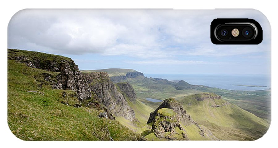 Quiraing Scotland IPhone X / XS Case featuring the photograph The Quiraing by Smart Aviation