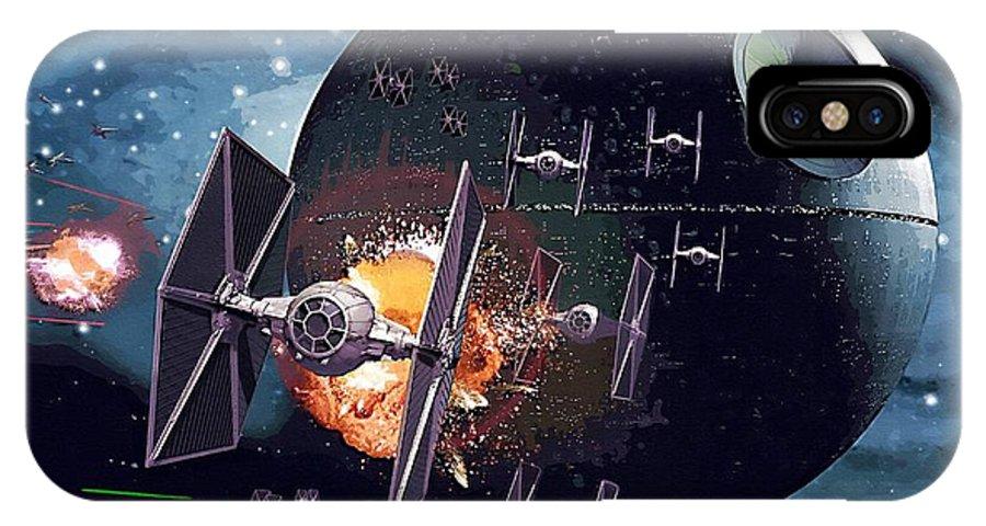 Skywalker Star Wars IPhone X Case featuring the digital art Trilogy Star Wars Art by Larry Jones