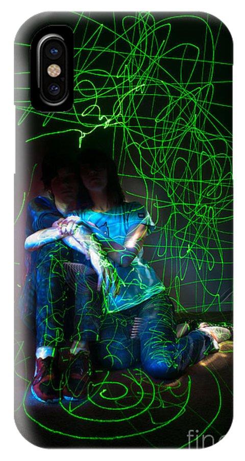 Light Painting Portrait IPhone X Case featuring the photograph Light Painting Portrait by Chris Look