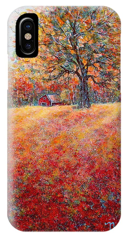 Autumn Landscape IPhone Case featuring the painting A Beautiful Autumn Day by Natalie Holland