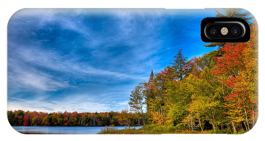 A Beautiful Autumn Day On West Lake IPhone X Case featuring the photograph A Beautiful Autumn Day On West Lake by David Patterson