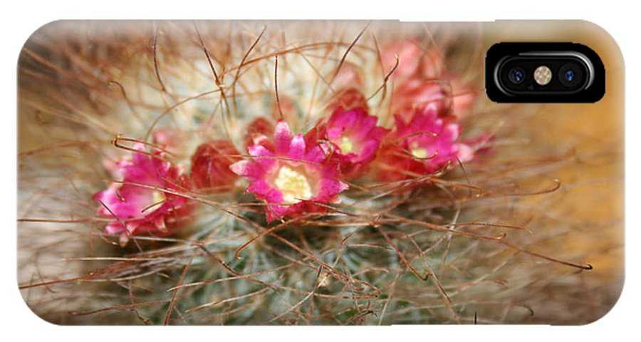 Flowers Nature IPhone X Case featuring the photograph A beautiful blur by Linda Sannuti