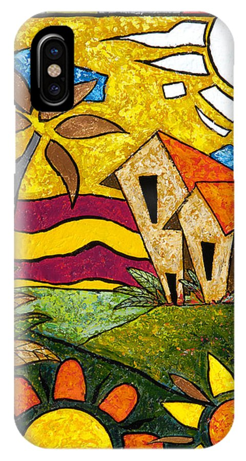 Puerto Rico IPhone Case featuring the painting A Beautiful Day by Oscar Ortiz