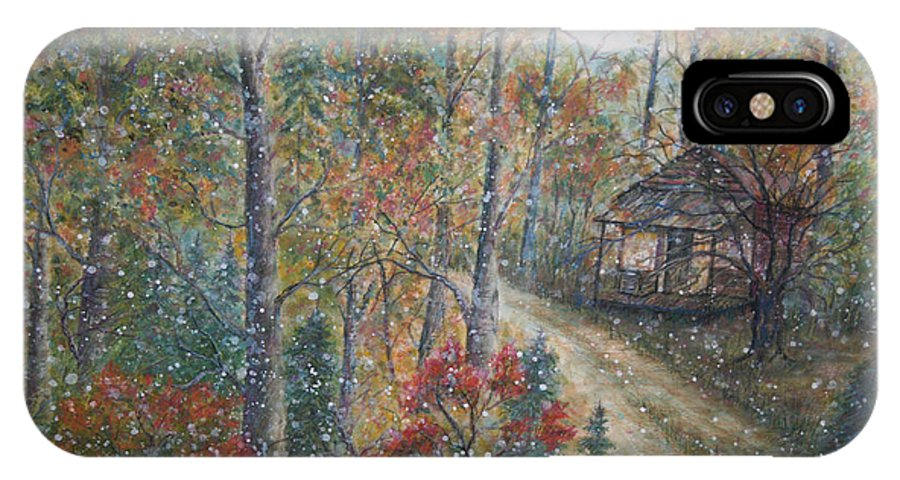 Country Road; Old House; Trees IPhone X Case featuring the painting A Bend In The Road by Ben Kiger