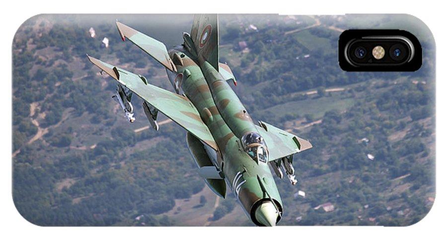 Bulgaria IPhone X Case featuring the photograph A Bulgarian Air Force Mig-21bis Armed by Daniele Faccioli