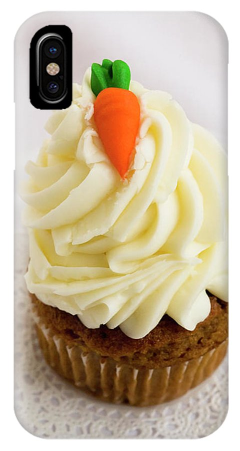 Carrot Muffin IPhone X Case featuring the photograph A Carrot Muffin by Diane Macdonald