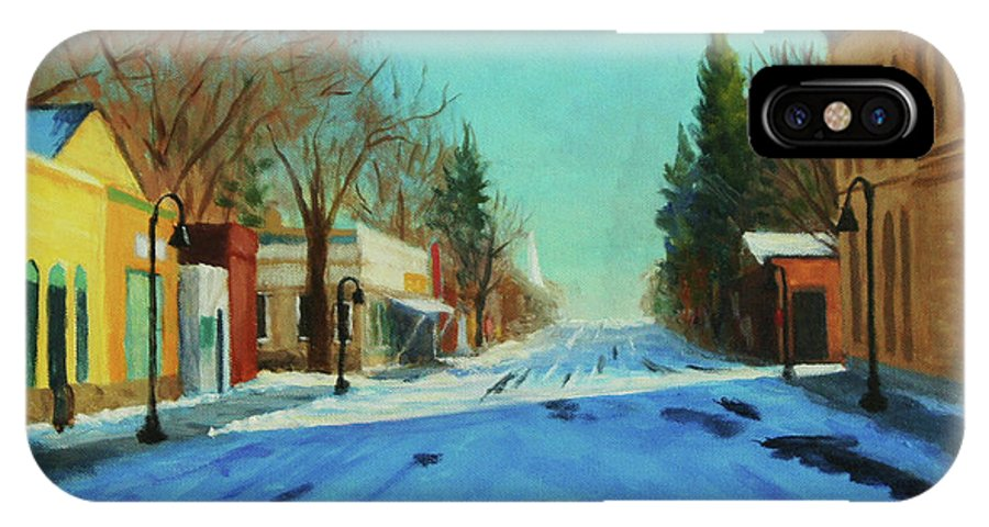 Cold IPhone X / XS Case featuring the painting A Cold Morning by Philip Foss