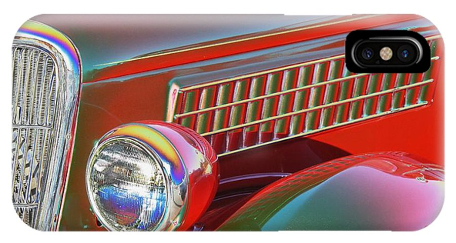 Classic Car IPhone X Case featuring the photograph A Colorful Classic by Mary Chris Hines