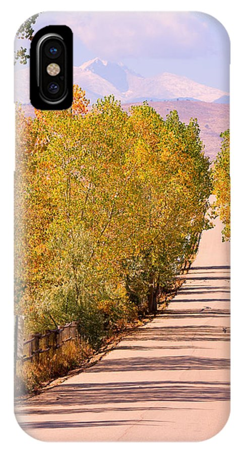 Rockymountains IPhone X Case featuring the photograph A Colorful Country Road Rocky Mountain Autumn View by James BO Insogna