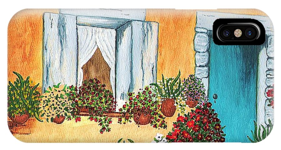 Watercolor Painting IPhone Case featuring the painting A Cottage In The Village by Patricia Griffin Brett