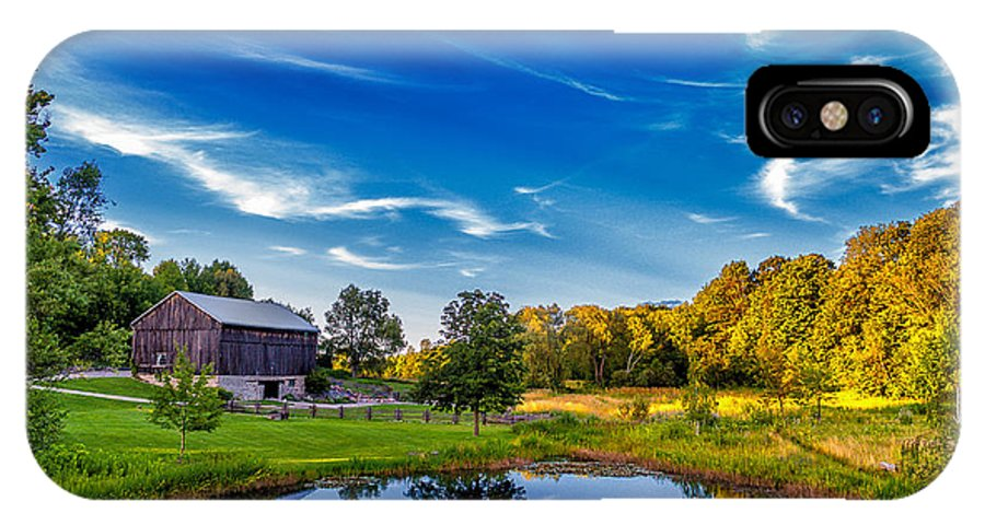 Pond IPhone X Case featuring the photograph A Country Place by Steve Harrington