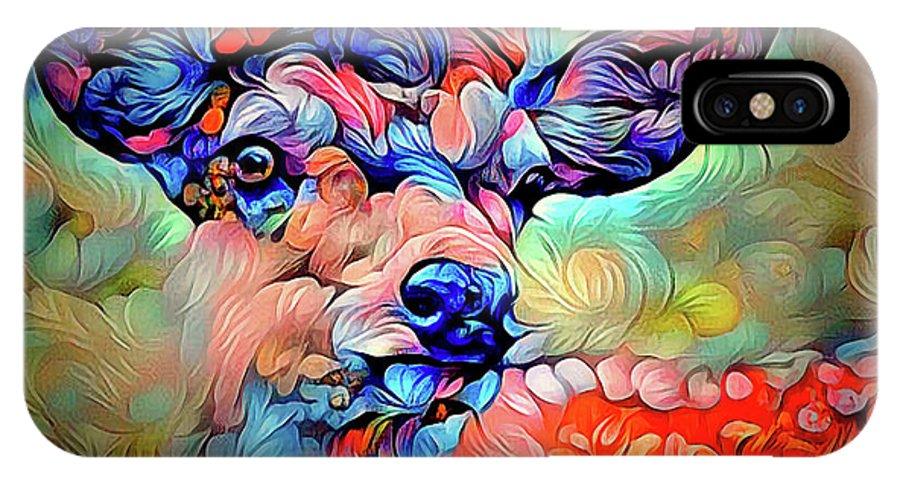 Curiosity IPhone X / XS Case featuring the digital art A Curiosity by Yury Malkov