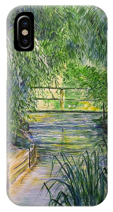 Giverny IPhone X Case featuring the painting A day at Giverny by Lizzy Forrester