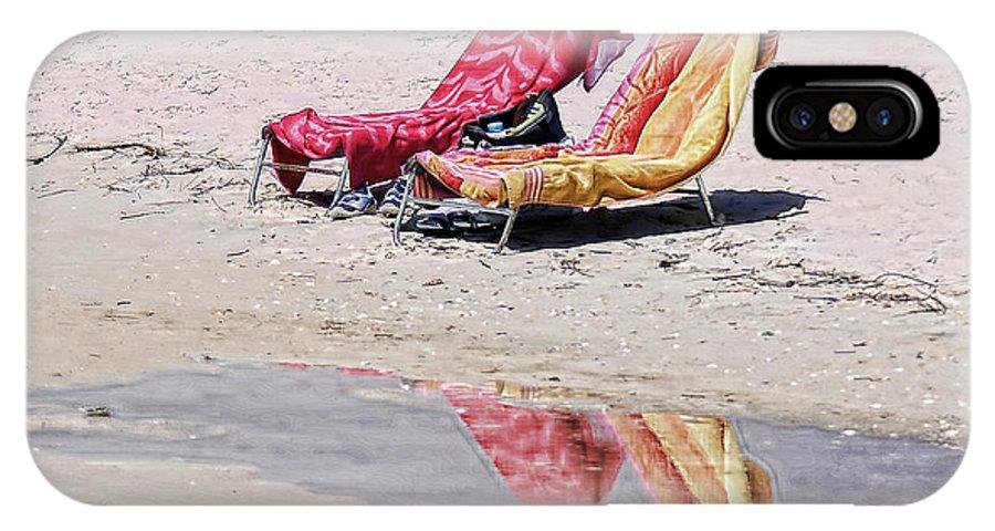 Beach IPhone X Case featuring the photograph A Day At The Beach by Susan Cliett