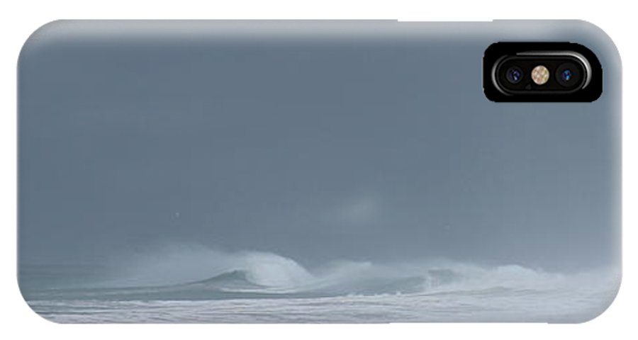 Moss Landing IPhone X Case featuring the photograph A Delicate Sea by Larry Daeumler