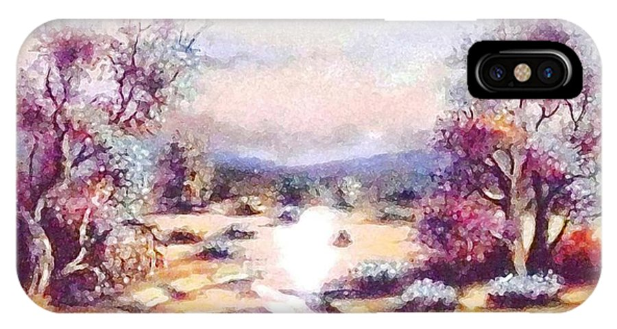 Wilderness IPhone X Case featuring the painting A Door Of Hope by Hazel Holland