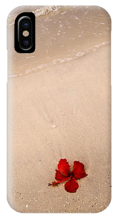 Flower IPhone X Case featuring the photograph A Flower And The Sea by Robert Ponzoni