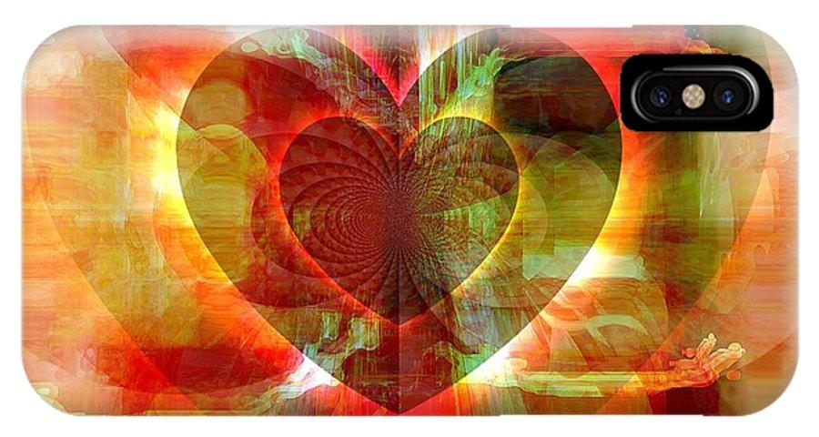 Fania Simon IPhone X Case featuring the digital art A Forgiving Heart by Fania Simon