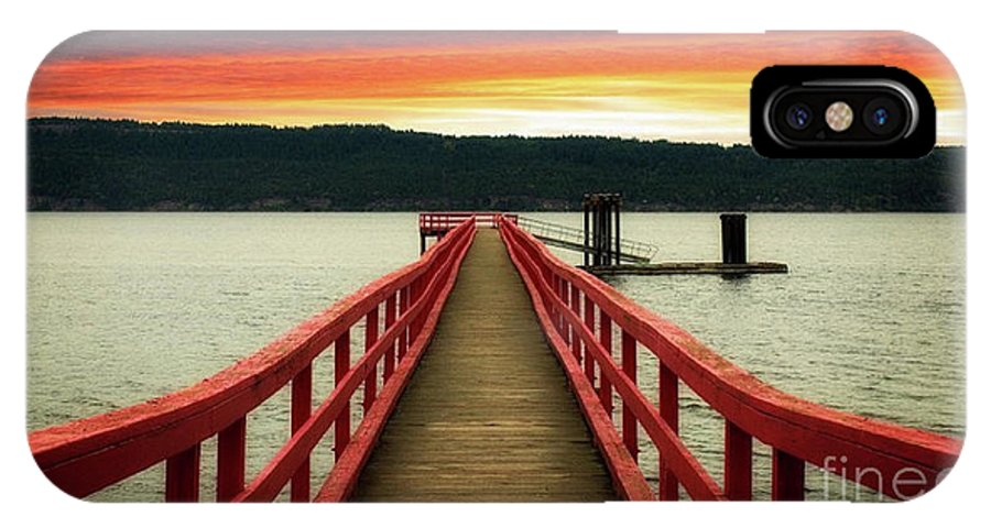 Pier IPhone X Case featuring the photograph A Gentle Evening by Rod Jellison