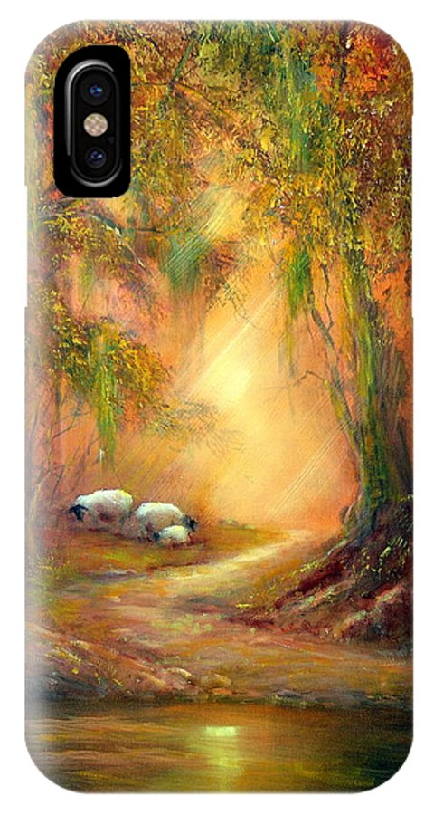 Forest IPhone X Case featuring the painting A Gentle Moment by Sally Seago