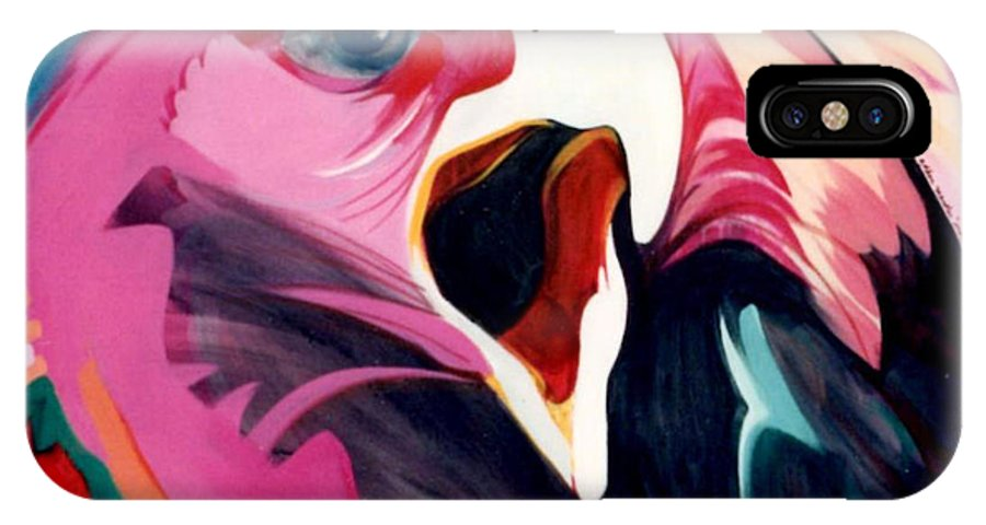 Raptor IPhone Case featuring the painting A Golden Mantles by Marlene Burns