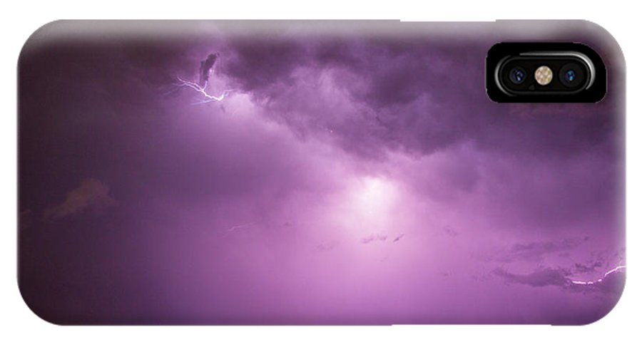 Nebraskasc IPhone X Case featuring the photograph A Great Way To End This Chase Day 014 by NebraskaSC