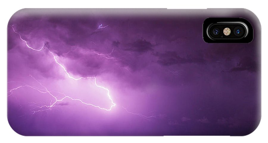 Nebraskasc IPhone X Case featuring the photograph A Great Way To End This Chase Day 017 by NebraskaSC