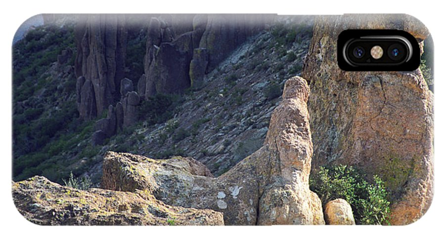 Rock Formations IPhone X Case featuring the photograph A Hard Ride by Kathy McClure