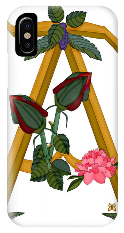 A IPhone X Case featuring the painting A Is For Art by Anne Norskog