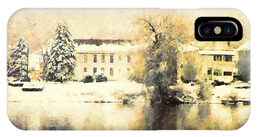 Trees IPhone X Case featuring the photograph A Late Winter Xvi by Tina Baxter