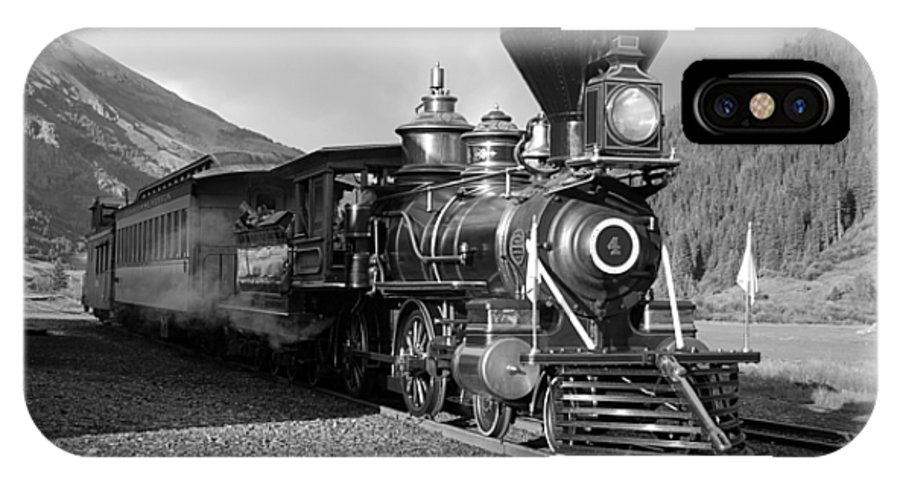 Steam Train Photographs Photographs Photographs IPhone X Case featuring the photograph A Look Of The Past by Ken Smith