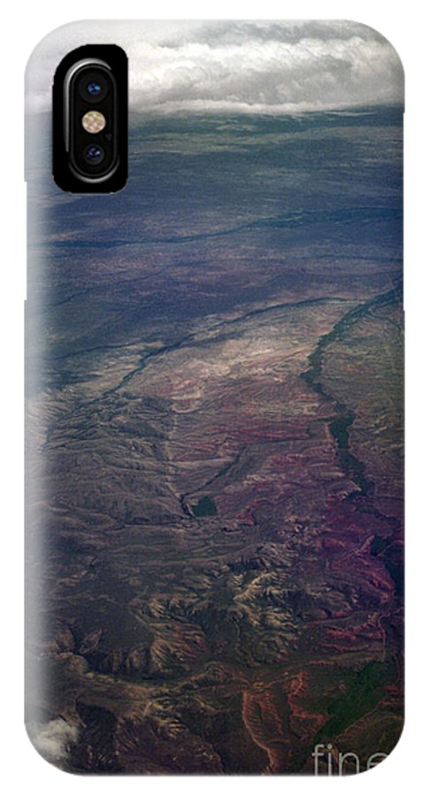 Aerial Photography IPhone X Case featuring the photograph A Midwestern Landscape by Richard Rizzo