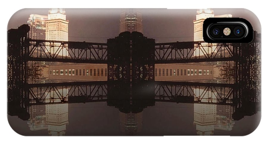 Cleveland IPhone X Case featuring the photograph A Mirror Image Reflection by Kenneth Krolikowski