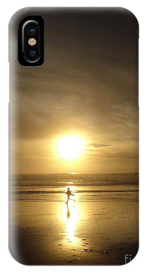 Beach IPhone X Case featuring the photograph A Moment In The Sun by Nick Gustafson