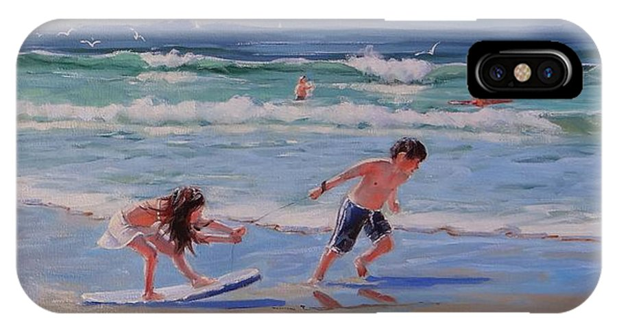 Oil Painting IPhone Case featuring the painting A Moment In Time by Laura Lee Zanghetti