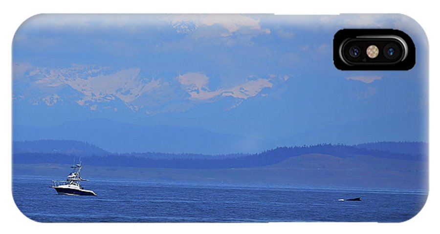 Mount Baker IPhone X Case featuring the photograph A Mountain, A Boat, A Whale by BYETPhotography