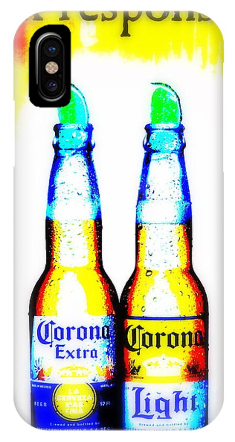 Corona IPhone X Case featuring the photograph A Must For Manhattan by Funkpix Photo Hunter