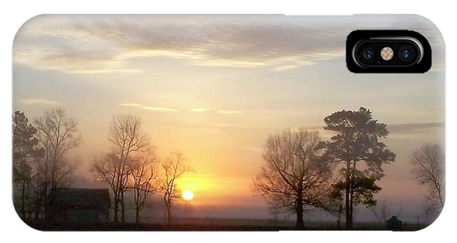 Sunrise IPhone X Case featuring the photograph A New Day by Janet Pugh