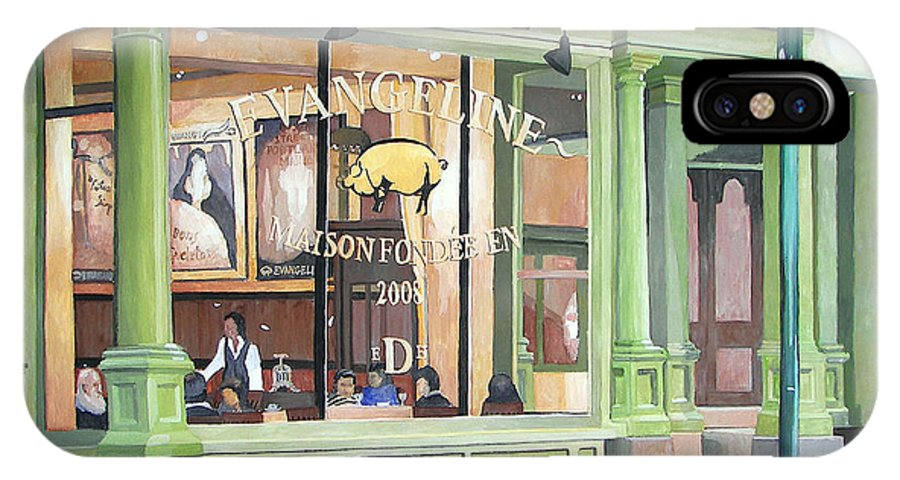 Restaurant IPhone Case featuring the painting A Night At Evangeline by Dominic White