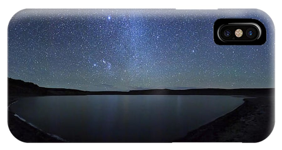 Argentina IPhone X Case featuring the photograph A Panoramic View Of The Milky Way by Luis Argerich